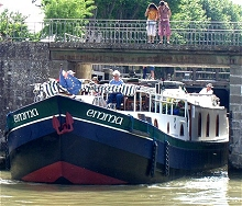 Cruising aboard the Emma on the Canal du Midi in the south of France